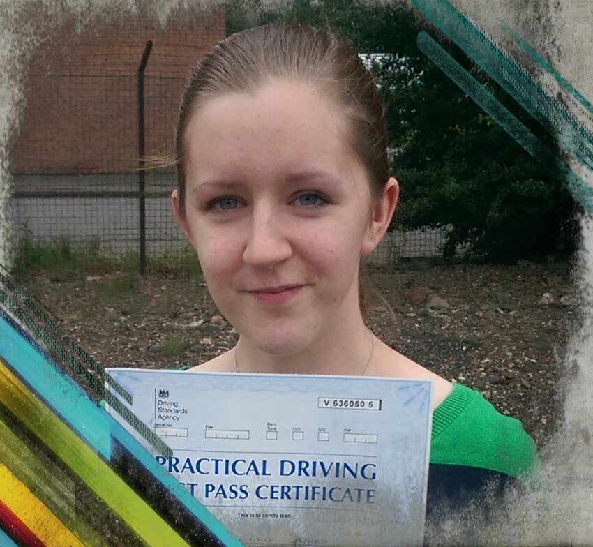 aislinn passing her driving test