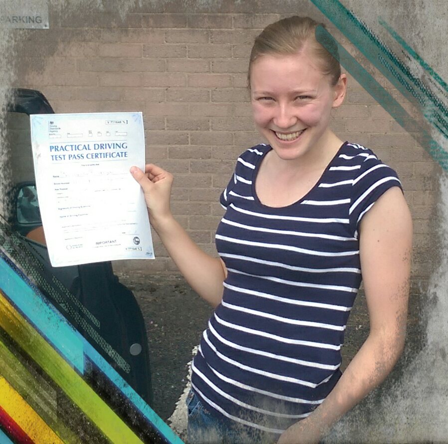 hannah passing her driving test