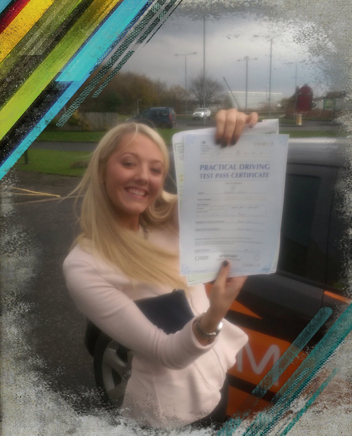 georgia passing her driving test