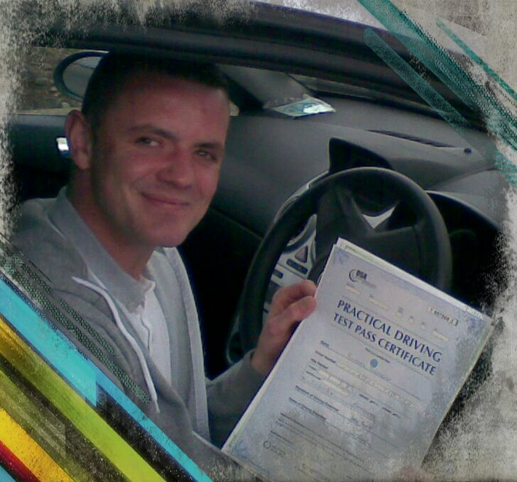 ricky passing his driving test