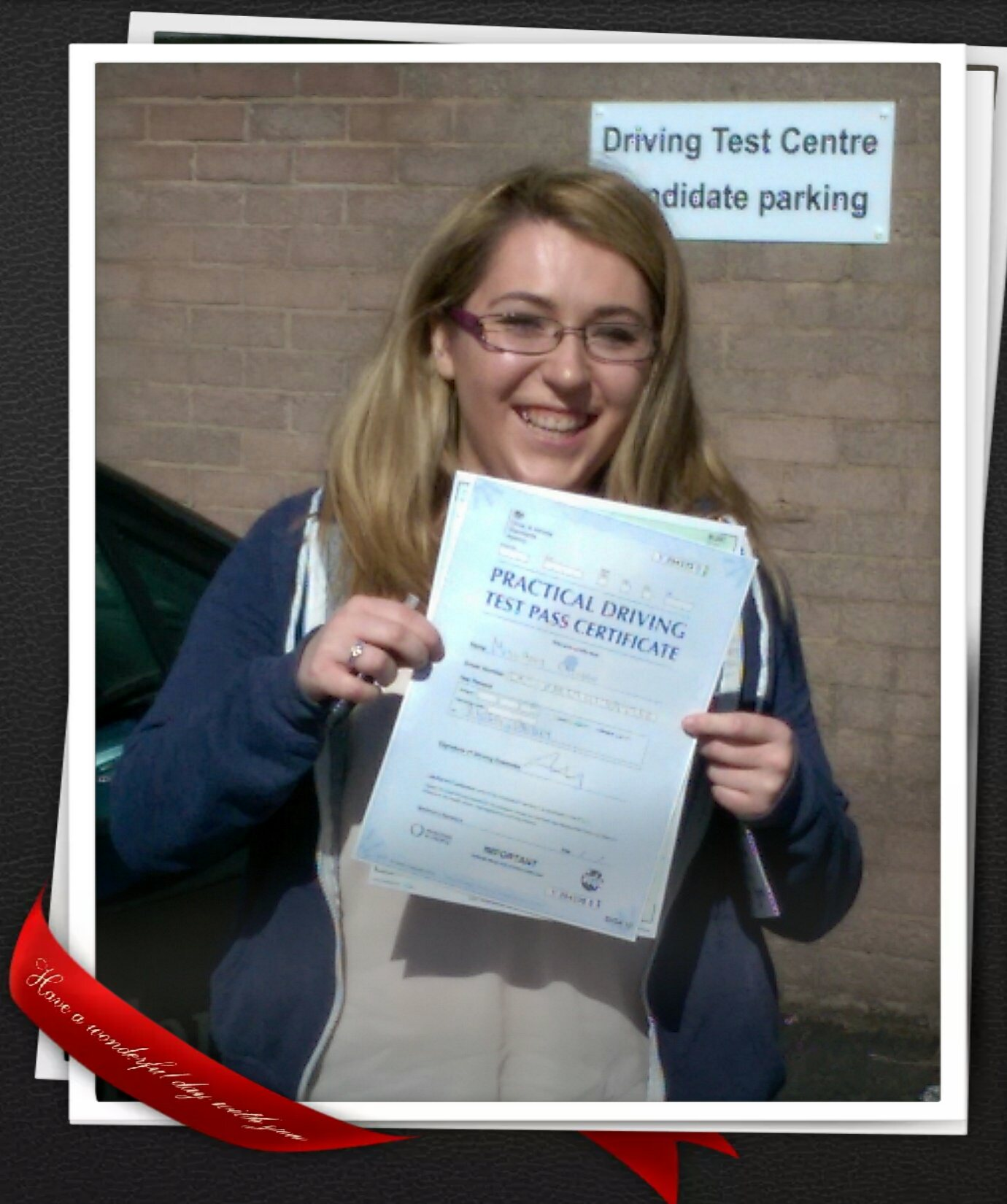 Amy Passing Her Driving Test In paisley