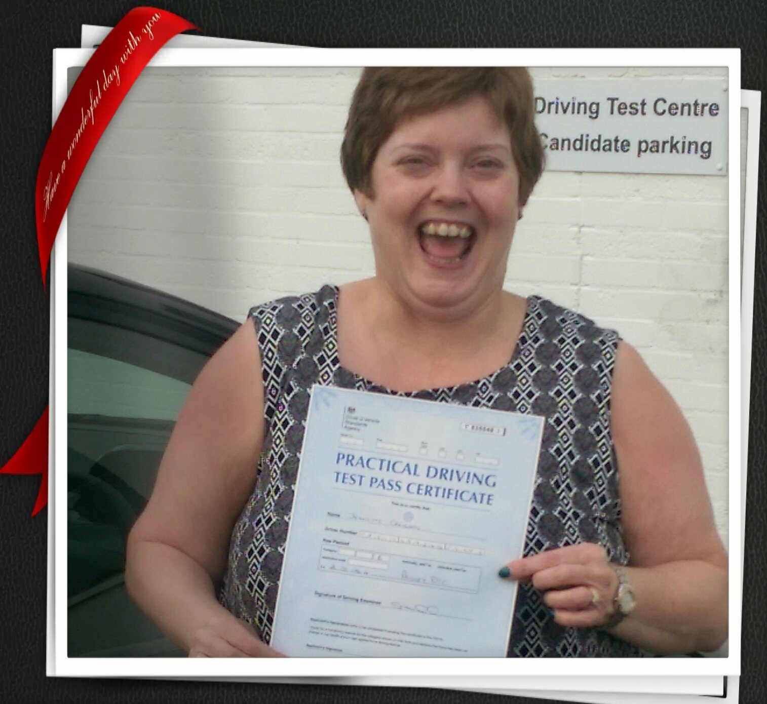 Jeanette Passing Her Driving Test At Paisley