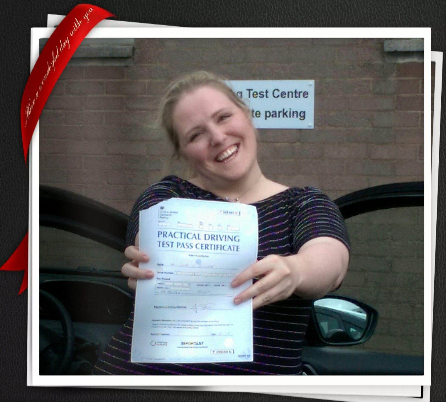 Lara B Passing her driving test in Paisley