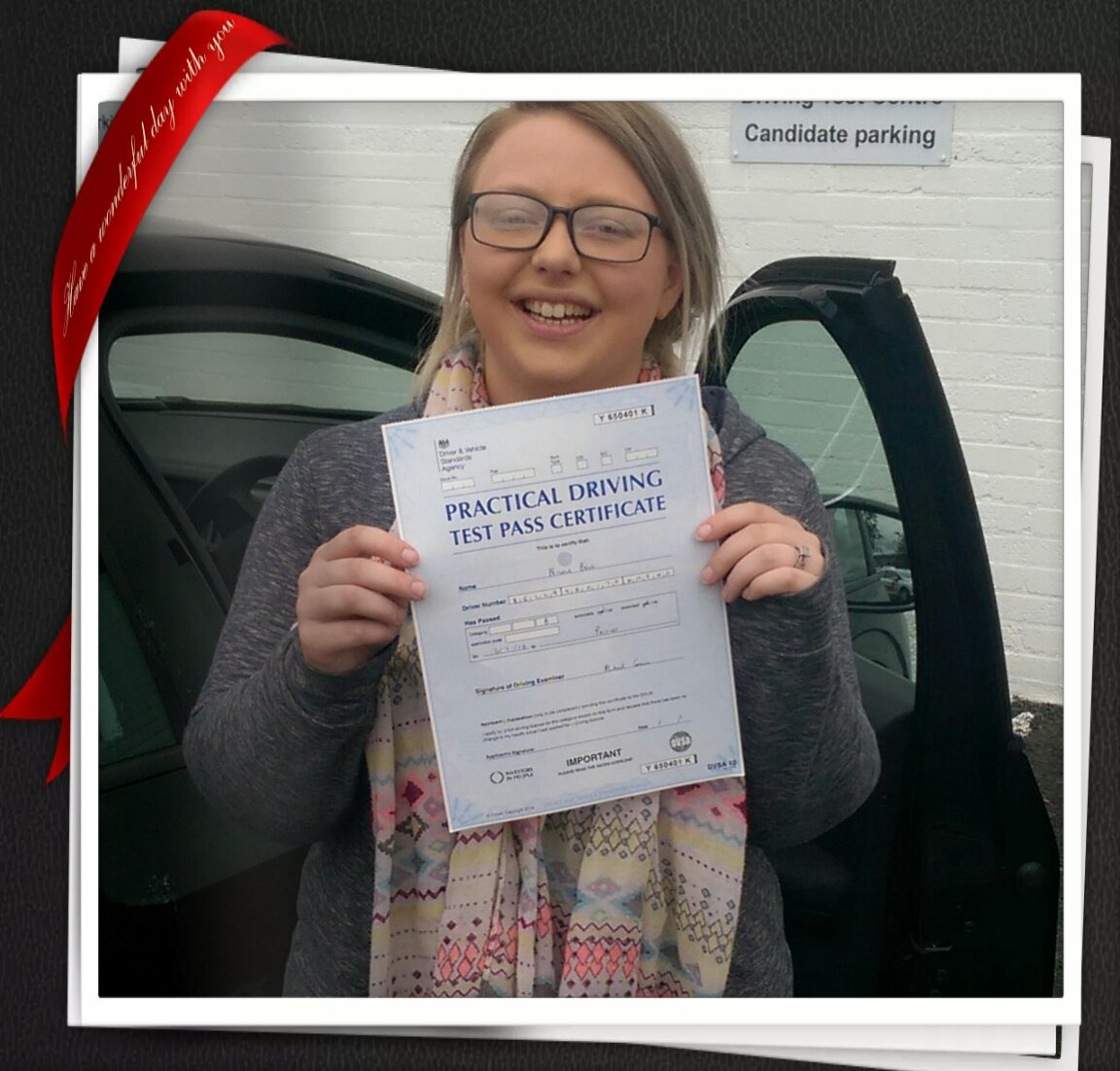 Nicola Passing Her Test At Paisley