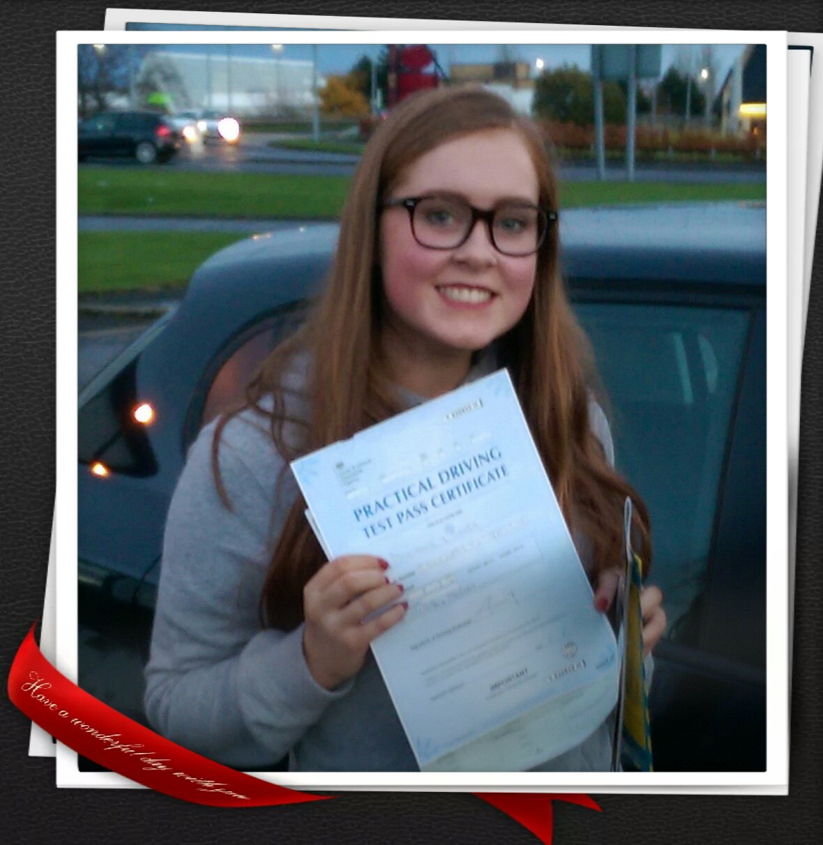 Katie Passing Her Test At Paisley